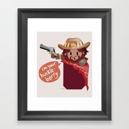 Pocket attack cowboy Framed Art Print