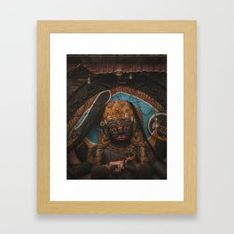 Temples and Architecture of Kathmandu City, Nepal 003 Framed Art Print