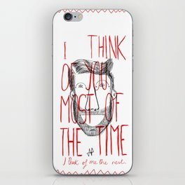 I think of you iPhone Skin