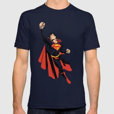 DC - Superman Mens Fitted Tee MEDIUM Navy