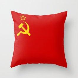 USSR Flag - Soviet Union Flag Throw Pillow