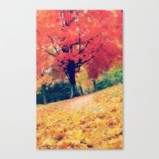 Fall stroll  Canvas Print