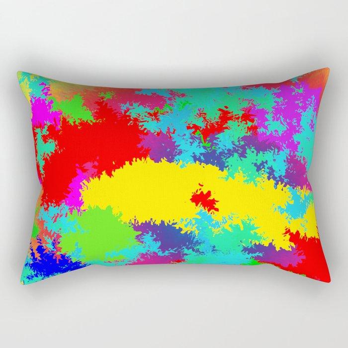Colourful Random Trippy Pattern Rectangular Pillow