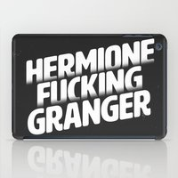 hermione iPad Cases featuring Hermione Fucking Granger by mgietzel