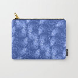 Blue and White Waves in a Pool; Fluid Abstract 42 Carry-All Pouch