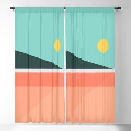 Geometric Landscape 15 Blackout Curtain
