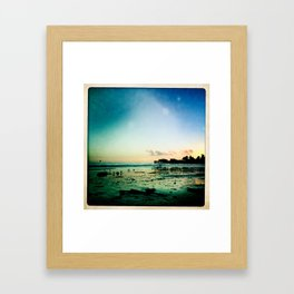 Smell the salt Framed Art Print