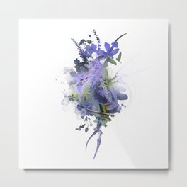 Hummingbird Heart Abstract Watercolor Art Print, Wall Art, Hummingbird Print, Abstract Print, Vision Metal Print