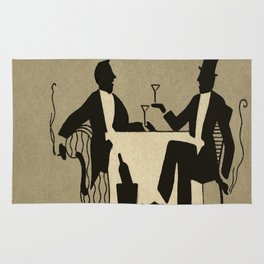 Vintage Dapper Men with Martinis Rug