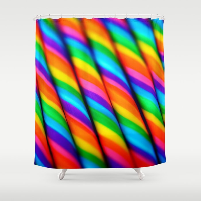 Rainbow Candy Canes Shower Curtain By Lilkiddies