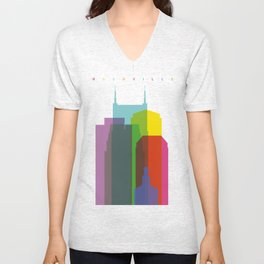 Shapes of Nashville Unisex V-Neck