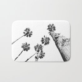 {2 of 2} Palm Trees = Happy // Black and White Summer Sky Bath Mat