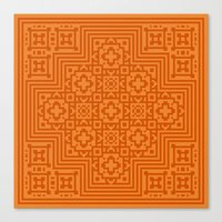 orange pattern Canvas Prints featuring Orange Pattern by White Wolf Wizard