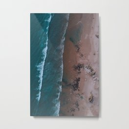 Beach Digital Print, Portugal Poster Art, Sea Waves Wall Art, Sand & Water Poster, Aerial Photograph Metal Print