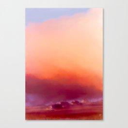 Winter-sun, in Iceland, Seltjarnarnes. Canvas Print