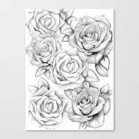 roses Canvas Prints featuring roses by iphigenia myos