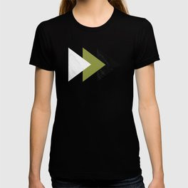 Forward Arrows Marble Pepper Stem Collage T-shirt