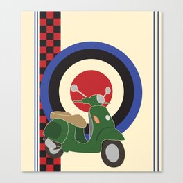 Scooter and mod symbols. Canvas Print