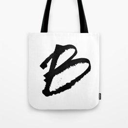 Letter B Ink Monogram Tote Bag