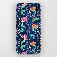 Merry Mermaids in Watercolor iPhone Skin