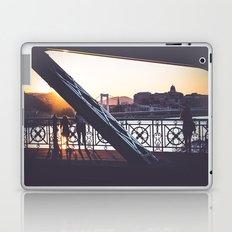 Freedom bridge - summer sunset IV. Laptop & iPad Skin