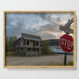 Streets of Dawson City Serving Tray
