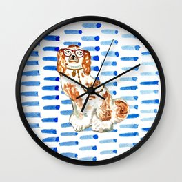 REDHEAD IN GLASSES - right facing Wall Clock