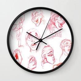 Women Expressions Wall Clock