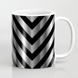 High grade raw material stainless steel and black zigzag stripes Coffee Mug