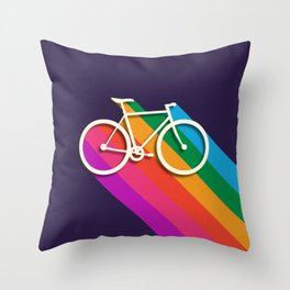 Let's go for a ride - bike no2 Throw Pillow