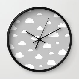 little clouds Wall Clock