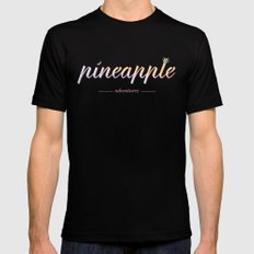Pineapple Adventures LARGE Black Mens Fitted Tee