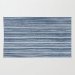 Dark Pastel Blue Whitewashed Beach Hut Cladding Rug