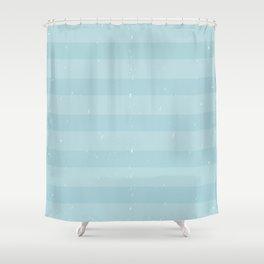 blue ocean stripes Shower Curtain