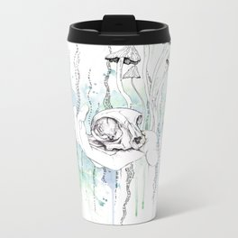 Cat Skull Metal Travel Mug