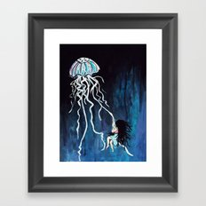 fall down, never get back up again Framed Art Print