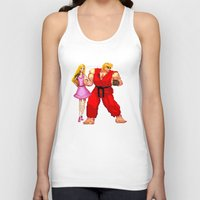 barbie Tank Tops featuring Barbie & Ken. by Sam Pea