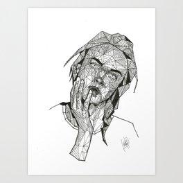 Cara Delevingne Abstract Portrait Art Print