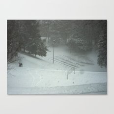 Dell Sledding Canvas Print