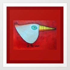 Birdy Blue Art Print