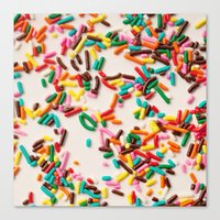 sprinkles Canvas Prints featuring Sprinkles  by Laura Ruth