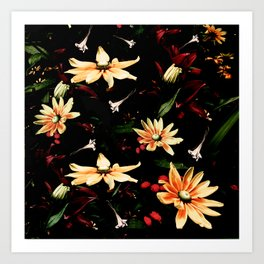 Floral Night II Art Print