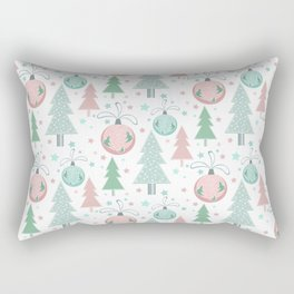 Christmas white pattern Rectangular Pillow