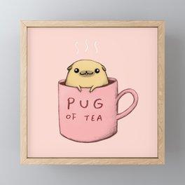 Pug of Tea Framed Mini Art Print