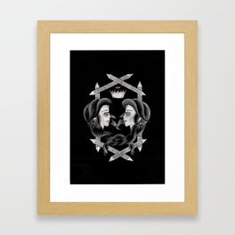 Two Heads One Crown Framed Art Print