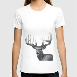The Majestic Trophy Buck - Deer Graphite Pencil Drawing - by Julio Lucas T-shirt