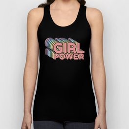 Girl Power grl pwr Retro Unisex Tank Top