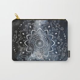 Namaste white mandala on blue Carry-All Pouch