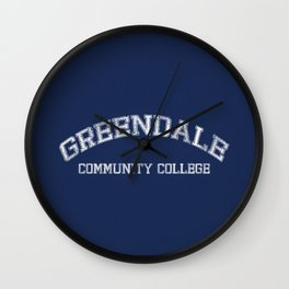 Greendale Community College Wall Clock