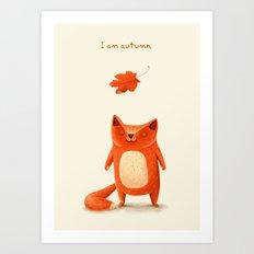 I am autumn (1) Art Print